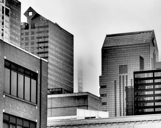Comcast Center Disappears in Philadelphia Fog-rona-black