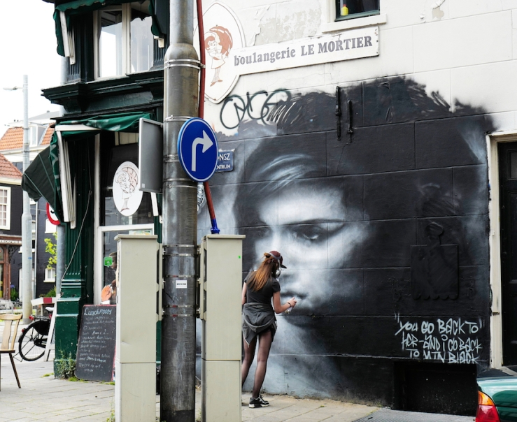 Graffiti Tribute to Amy Winehouse - Amsterdam